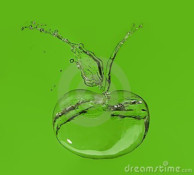 Apple made of splashes