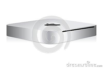 Apple mini mac computer Editorial Stock Image