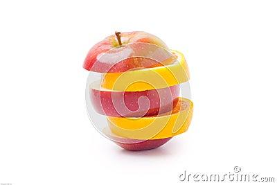 Apple mixed with orange