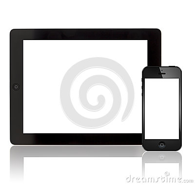 Free Apple New IPad 3 And IPhone 5 Royalty Free Stock Photo - 27207225