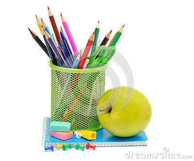 Apple and office supplies