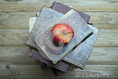 Apple and old books