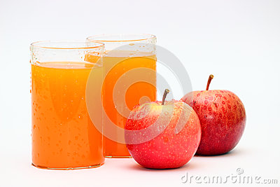 Apple and orange fruit juice