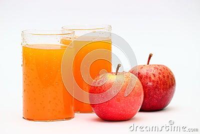 Apple and orange fruit juice