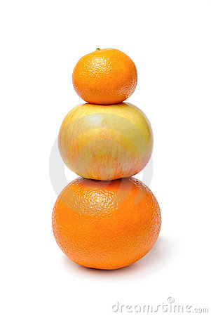 Apple orange mandarin fruits
