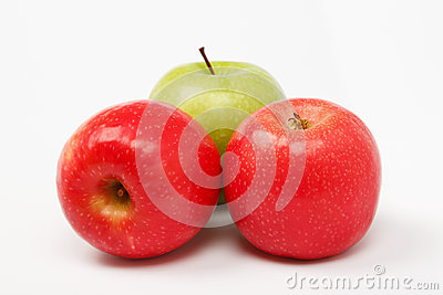 Apple and peach composition