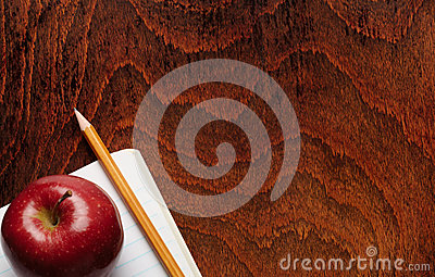 Apple and a pencil