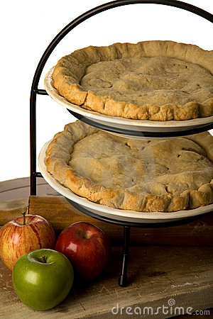 Apple pie with apples.