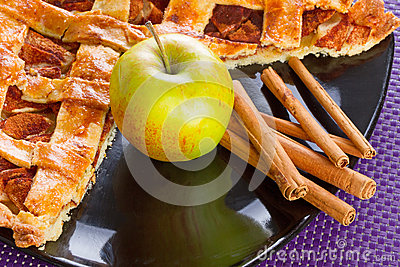 Apple Pie With Cinnamon Stock Photo - Image: 28864260