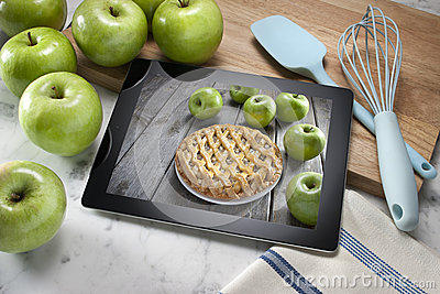 Apple Pie Dessert Computer Tablet