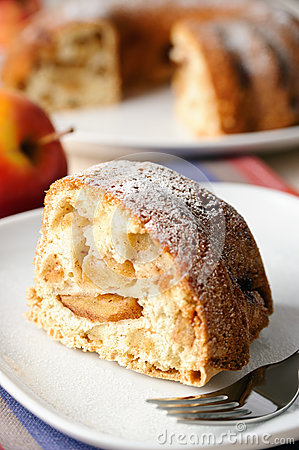 Apple pie with sugar powder