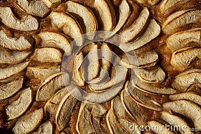Apple pie. Tart or cake with jam Stock Photo