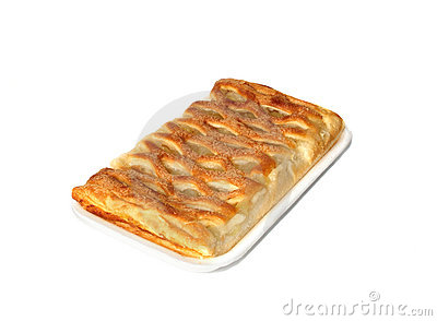 Apple pie on the tray