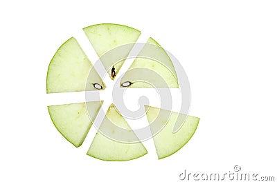 Apple Pieces, Closeup