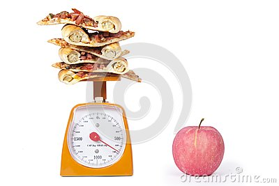 Apple and Pizza slices