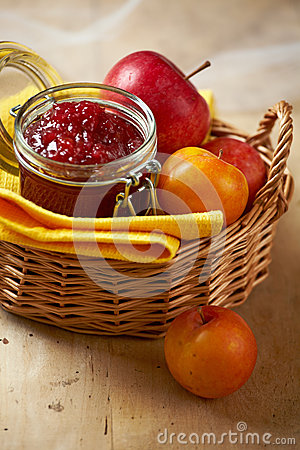 Apple and plum jam