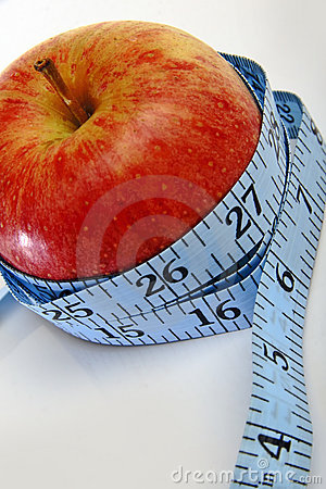 An apple, promoting weightloss