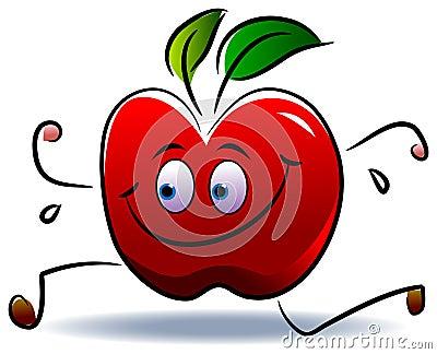 Apple run Vector Illustration