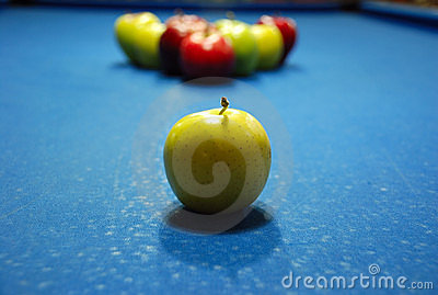 Apple shaped billard balls