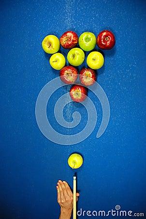 Apple shaped billard balls