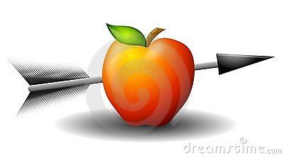 Apple Shot With Arrow