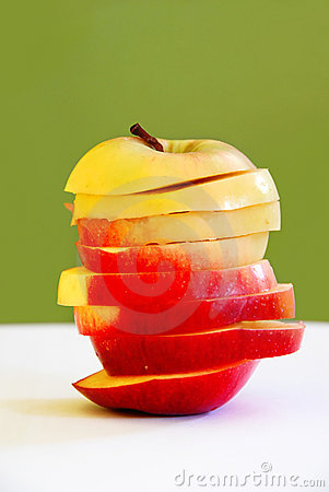 Apple slices in apple shape