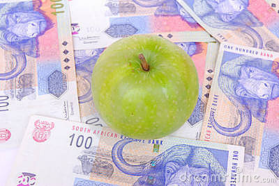 Apple on South African rands