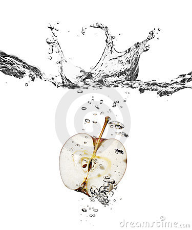Free Apple Splash In Water Stock Images - 7120884