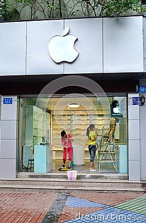 Apple store Editorial Photo