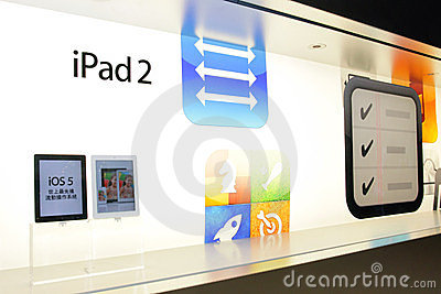 Apple Store Display Editorial Stock Image