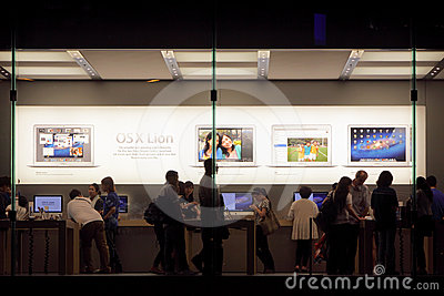 Apple Store Display Editorial Photography