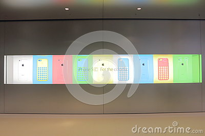Apple Store Display Editorial Photo
