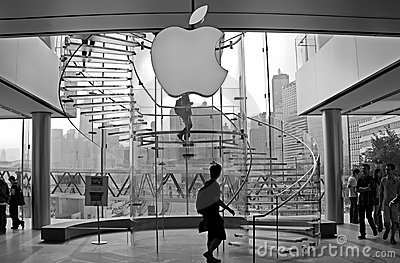 Apple store hong kong Editorial Stock Photo
