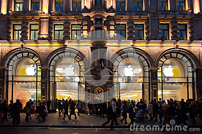 Apple Store in London Editorial Stock Image