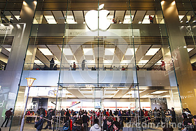 Apple Store main entrance Editorial Photography