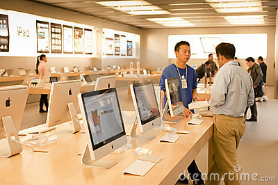 Apple Store Shanghai Editorial Stock Photo