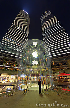 Apple Store in Shanghai Editorial Stock Image