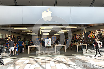 Apple store Editorial Photography