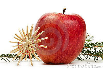 Apple straw star and a branch