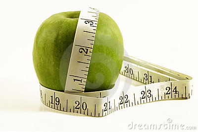Apple And Tape Measure Royalty Free Stock Photo - Image: 1427405