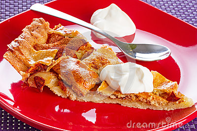 Apple tart with cream dessert