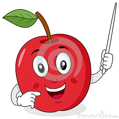 Apple Teacher Character with Pointer