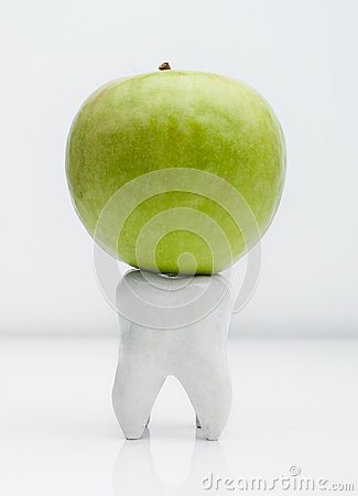 Apple on the tooth