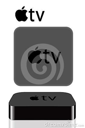 Apple TV Home Network Editorial Stock Photo