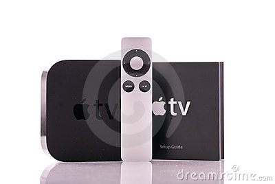 Apple TV Remote Control Editorial Stock Photo