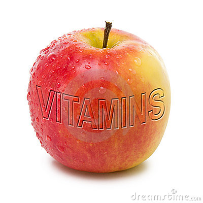 Apple with vitamins