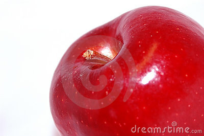Apple on white