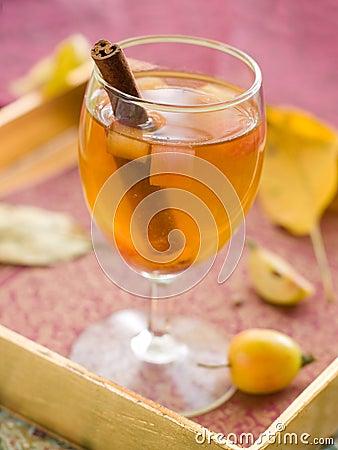 Apple wine or cider