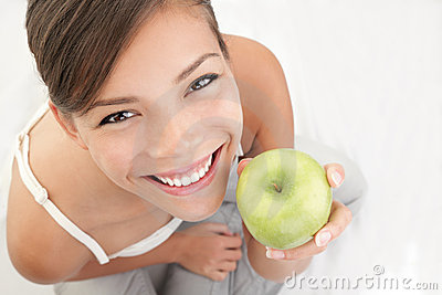 Apple woman