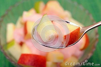 Apple and yogurt